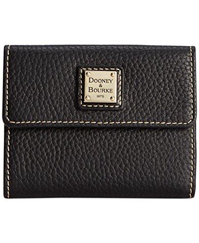 dooney-bourke-pebble-small-flap-wallet-black-black