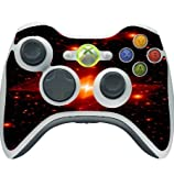 Red Asteroids Cosmic Nebula Printed Design Xbox 360 Wireless Controller Vinyl Decal Sticker Skin by Smarter Designs