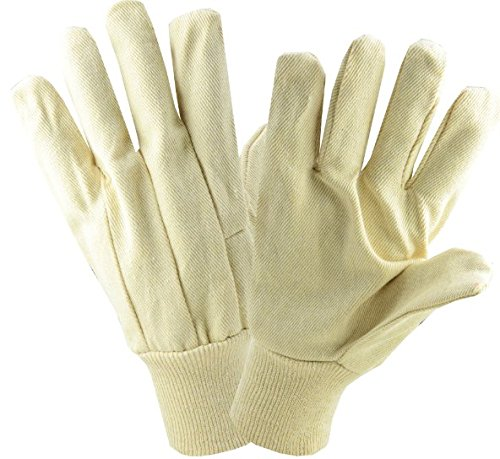 Poly Cotton Canvas Gloves - West Chester 712K Poly Cotton Canvas Glove, 12 oz, Large, White