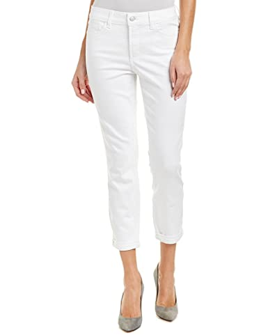 b45e234d70c64 NYDJ Women's Rachel Optic White Rolled Ankle Cut, 14, White at Amazon  Women's Jeans store