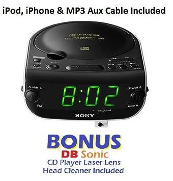 Amazon.com: Sony Dream Machine Dual Alarm Clock reproductor ...
