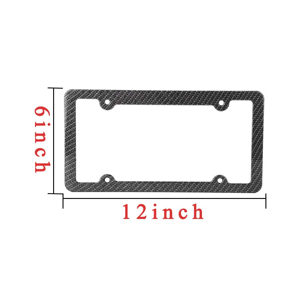 Slim Car Licence Plate Holder Covers With Bolts Washers And Chrome Screw Caps For US Standard with 4 Holes 2 PCS Aluminum Metal License Plate Frame