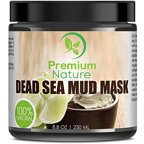 Dead Sea Mud Mask for Face and Body - 8.8 oz Melts Cellulite Treats Acne Strech Mark Removal - Deep Detox Cleaning Mask Pore Minimizer and Wrinkle Reducer - Natural Limited Edition Premium Nature ()