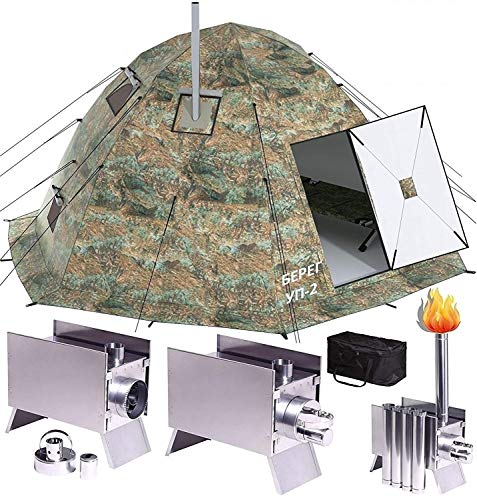 Russian-Bear Winter Tent with Stove Pipe Vent