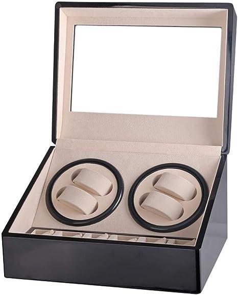 Audivik Enrollador 4 Relojes de Madera,Enrollador de Reloj para Relojes Automáticos 4 en Punto Caja de Reloj Cajas de Relojes Cajas Giratorias Negro: Amazon.es: Deportes y aire libre