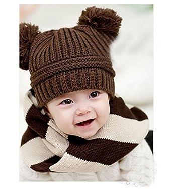 Woollen bunny baby cap - Brown  Amazon.in  Clothing   Accessories 4fab73c06