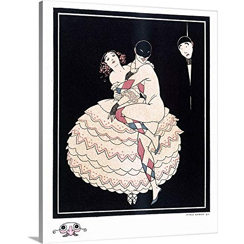GREATBIGCANVAS Gallery-Wrapped Canvas Entitled Karsavina, 1914 by Georges Barbier ()