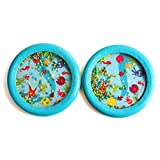 """Foraineam 2 Pack Musical Toys 7"""" Ocean Waves Drum Surf Drum, Gift Ideals"""