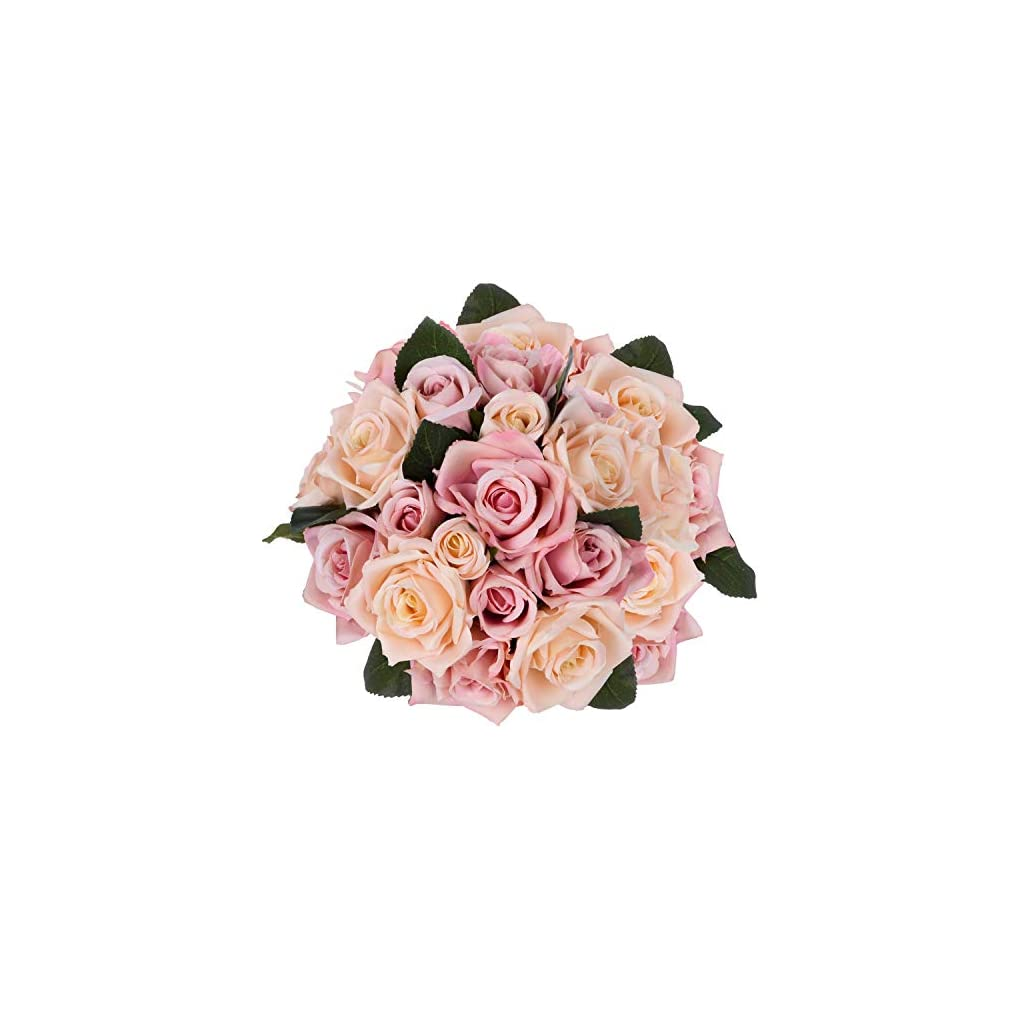 Artiflr-Artificial-Flowers-Rose-Bouquet-2-Pack-Fake-Flowers-Silk-Plastic-Artificial-White-Roses-18-Heads-Bridal-Wedding-Bouquet-for-Home-Garden-Party-Wedding-Decoration