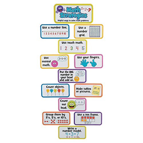 Jumbo Math Strategy Mini Bulletin Board Set ()
