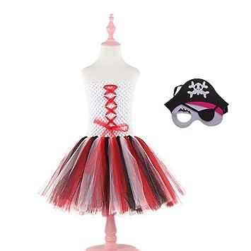 Amazon.com: PTS Pirate Theme Costume for Girls Halloween ...