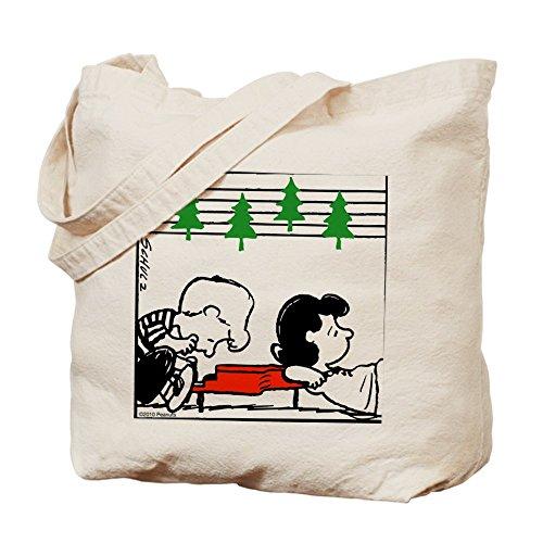 CafePress–árbol de Navidad Melody–Gamuza de bolsa de lona bolsa, bolsa de la compra Small caqui