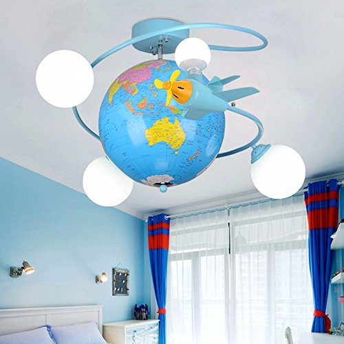 The Globe Children\'s Room Ceiling Light Aircraft North European Boys ...