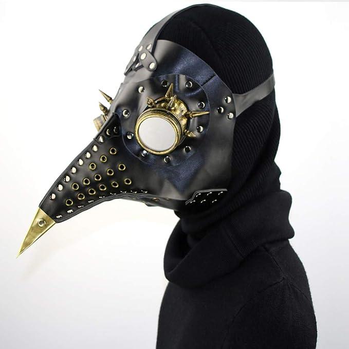 WAOBE Steampunk Mascarilla - Halloween Plaga Pájaro Pico PU Material, Conveniente para El Funcionamiento De La Etapa, Traje De La Coincidencia Y Juego De ...