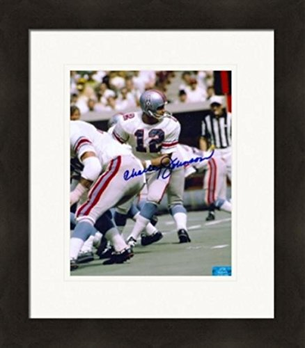 Autograph Warehouse 269799 Charley Johnson Autographed 8 x 10 in. Photo - Houston Oilers Matted & Framed