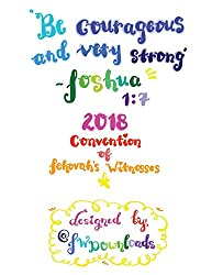 Be Courageous 2018 Convention of Jehovah's Witnesses Workbook for Teens