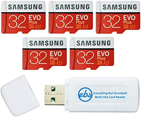 Amazon.com: Samsung 32GB Evo Plus MicroSD Card (5 Pack EVO+ ...