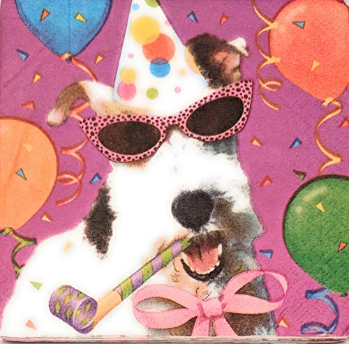 - 3 Each: BOW WOW Birthday Beverage Napkins (Pack of 16)