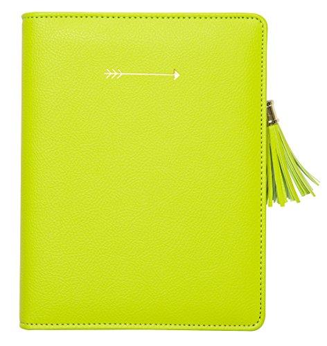 cr-gibson-zipper-leatherette-journal-with-full-metal-zipper-closure-tassel-pull-refillable-arrow