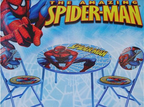 (The Amazing Spider-Man Spiderman 3-Piece Folding Table & Chair Set)