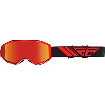Fly Racing 2020 Zone Goggles (RED/RED Mirror Lens): Automotive
