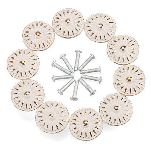 Cabinet Knob, RilexAwhile 10Pcs 33mm Dresser Cupboard Cabinet Drawer Knobs Wardrobe Door Pull Handle for Home Office