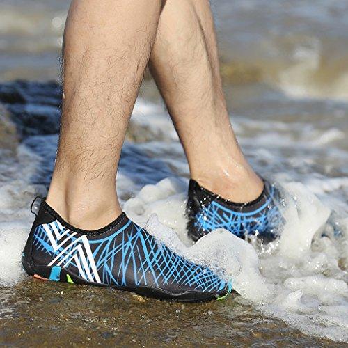 Ivao Unisexe Chaussures Deau À Séchage Rapide Aqua Peau Pieds Nus Pour La Natation, Le Kayak, La Pêche, La Plage, Le Surf, La Conduite Bleue