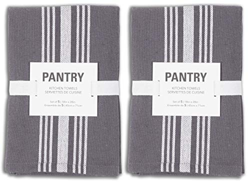 KAF Home Soho Kitchen Dish Towel Set of 10 | 18 x 28 Inch Tea Towels | Soft and Absorbent Mixed Set of Flat Towels…