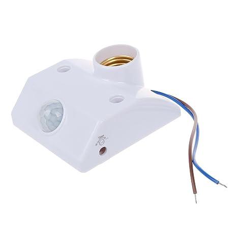 Base porta lámpara con sensor de movimiento por infrarrojos.