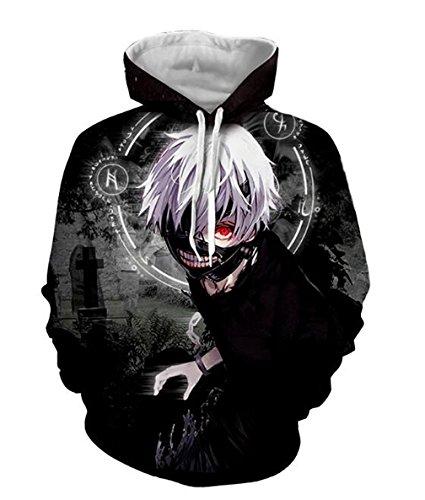131 Ken - DreamAndReality Unisex Hoodies Tokyo Ghouls Ken Kaneki 3D Print Pullover Sportswear Sweatshirt Tops 131