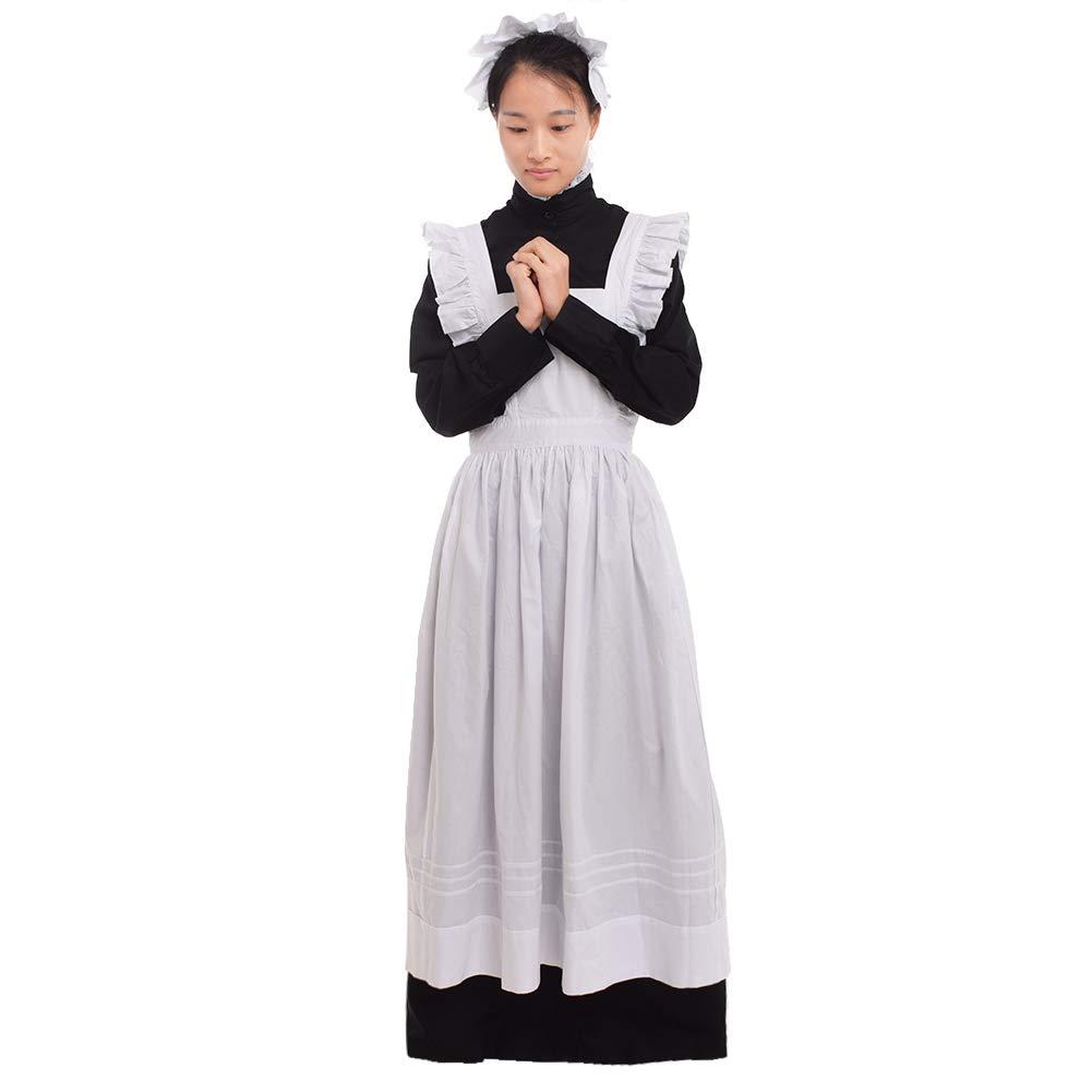 Pure Cotton Fabric L GRACEART Women's Plymouth Pilgrim Costume