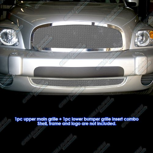 (APS Compatible with 2006-2011 Chevy HHR Stainless Steel Mesh Grille Grill Combo Insert #C77868T)