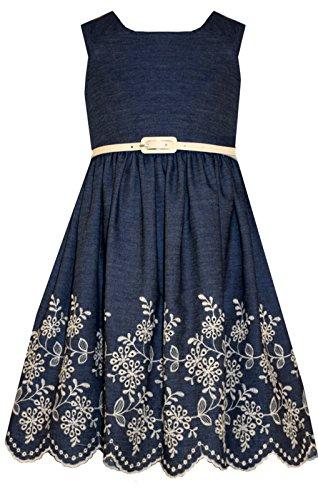 Buy belted denim dress - 8
