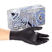AmerCare Ninja Powder Free Exam Gloves, Latex, Extra Large, Case of 1000