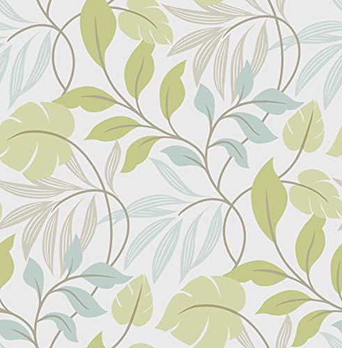 (Wall Pops NU1657 Meadow Peel and Stick Wallpaper, Blue/Green)