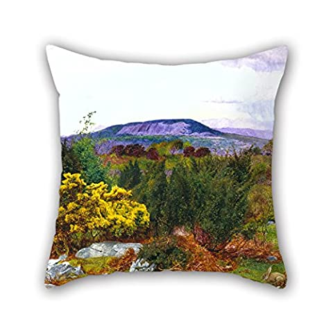 Artistdecor 16 X 16 Inches / 40 By 40 Cm Oil Painting Daniel Alexander Williamson - Spring, Arnside Knot And Coniston Range Of Hills From Warton Crag Pillow Shams ,both Sides Ornament And Gift To (Alexander Wang Duffle)