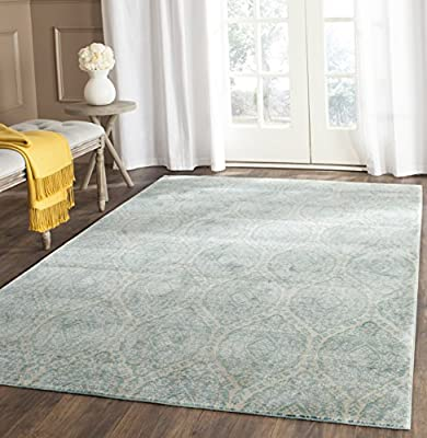 Safavieh Valencia Collection VAL206J Alpine and Cream Vintage Distressed Silky Polyester Area Rug (4 x 6)