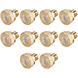 uxcell Brass Misting Nozzle - 10/24 UNC 0.4mm Orifice Dia Replacement Heads for Outdoor Cooling System - 10 Pcs