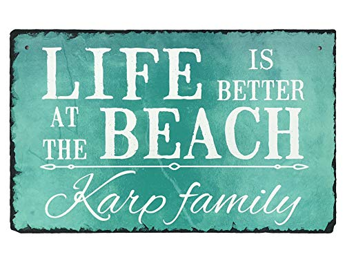 - Sassy Squirrel Handcrafted and Personalized Slate House Sign - Life is Better at The Beach (12