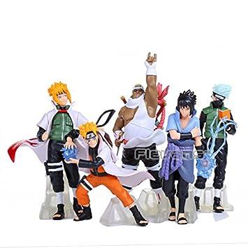 Amazon.com: Ajuste de 5pcs/set 3.9 inch Anime japonés cifras ...
