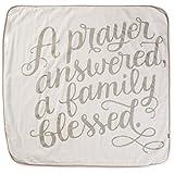 Hallmark A Prayer Answered White Muslin Baby Blanket