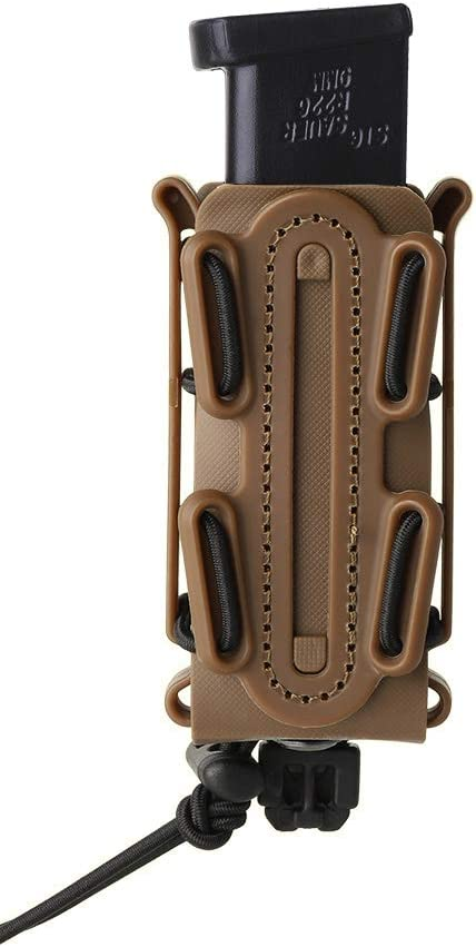 KRYDEX 9mm Pistol Mag Pouch Softshell Magazine Pouch Tactical Magazine Holder Tall