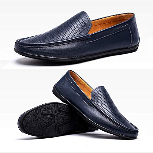 Simples Color Azul de Hombres para Azul 41 para Color Tamaño EU tamaño Azul Redonda Cabeza Casual Hombres HhGold Zapatos Mocasines On de 40 Slip cómodos Cuero y 51aZZYfpwq