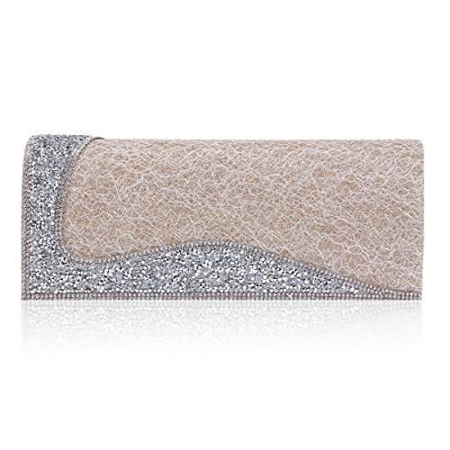 Hipster Cocktail Womens Crystal Patterned Champagne Bag Damara Evening Graph HnRP5xXnwq