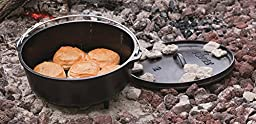 Lodge L12CO3 Cast Iron Camp Dutch Oven, 6 quart