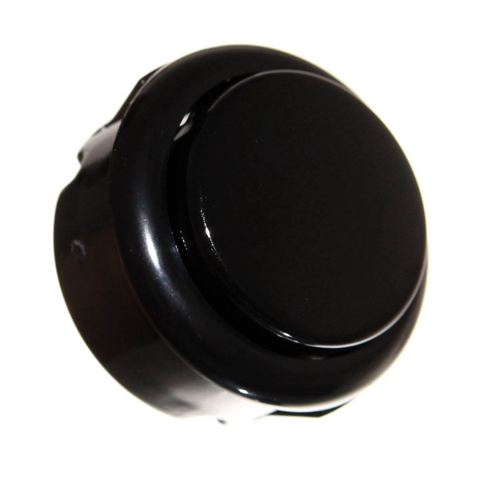 1x Black 33mm Tastergehäuse Schwarz mit Microswitch Rund Einbau Push-Button Spielzeugautomat Reparatur Neu Joy-Button