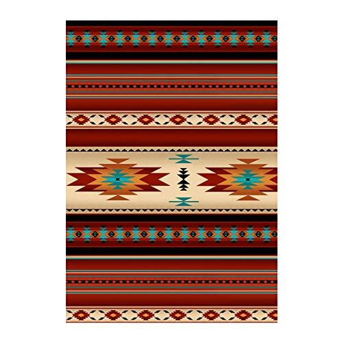 (Tucson Flannel Blanket Stripe Terra Cotta Fabric by the Yard)