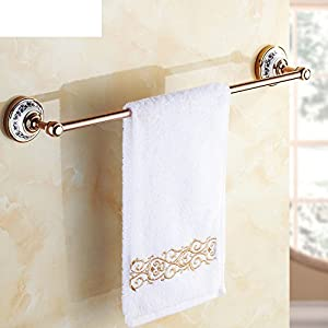 European antique blue and white rose gold single bar Towel rack/brass single towel rail/Towel shelf /Towel pendant high-quality