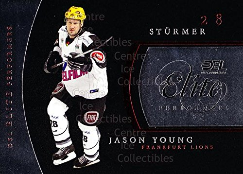 (CI) Jason Young Hockey Card 2009-10 German DEL Premium Elite Performers 3 Jason Young (City 2009 Elite Single)