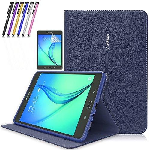 Super Slim Cover for Samsung Galaxy Tab A 8-Inch Tablet SM-T350 (Black) - 8